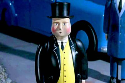 He's fat, he's a controller, thus: the Fat Controller. Yes, they're a creative lot over on the Isle of Sodor. <i>Thomas</i> buffs already know his <i>real</i> name: Sir Topham Hatt.