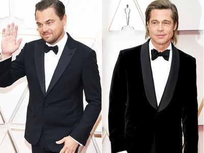 Leonardo DiCaprio and Brad Pitt on the Oscars red carpet