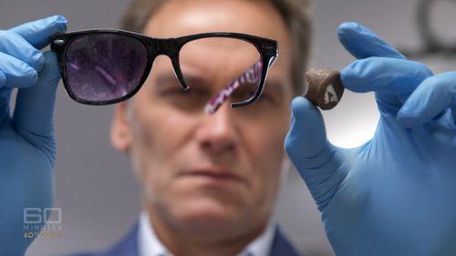 The Darwin crash victim's shattered glasses.