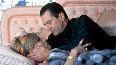 Sharon Stone and Robert De Niro share a tender moment in Casino.