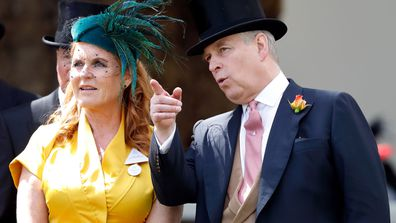 Sarah Ferguson, Duchess of York and Prince Andrew, Duke of York attend day four of Royal Ascot at Ascot Racecourse on June 21, 2019