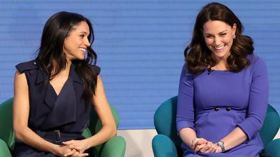 Meghan and Kate speak during the Royal Foundation Forum, February 2018