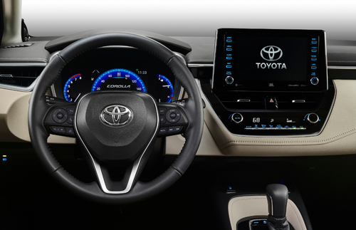 The new Toyota Corolla Sedan tech like autonomous emergency braking, adaptive cruise control, seven airbags, and a reversing camera across the range.