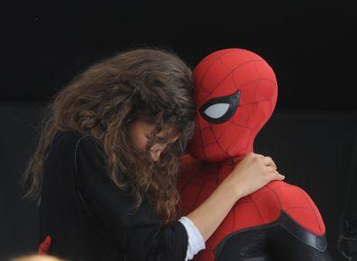 Zendaya, Tom Holland filming Spider-Man: Far From Home