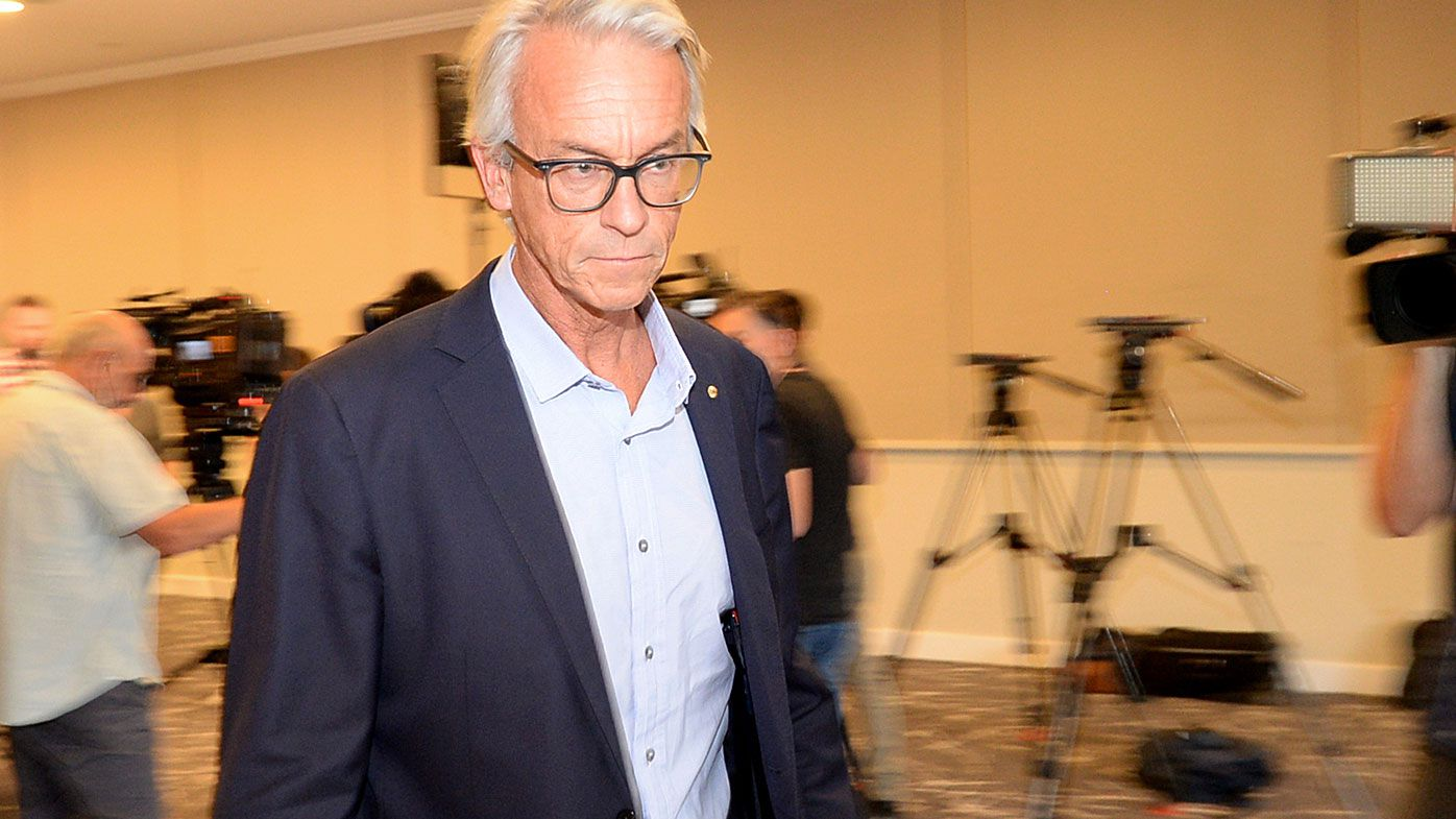 FFA boss David Gallop abruptly ends press conference attempting to explain Matildas coach sacking