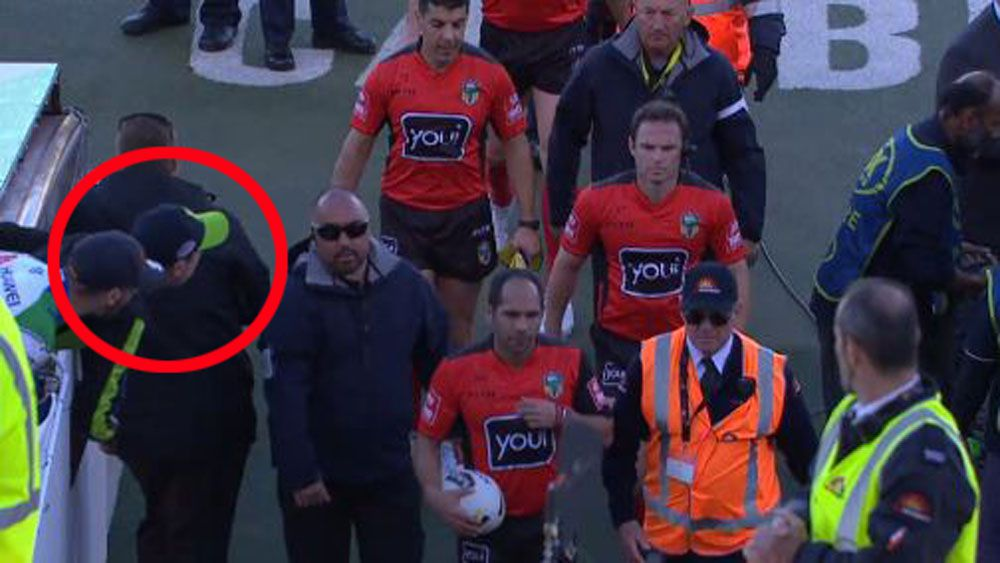 Canberra coach Ricky Stuart condemns fan for spitting on referee