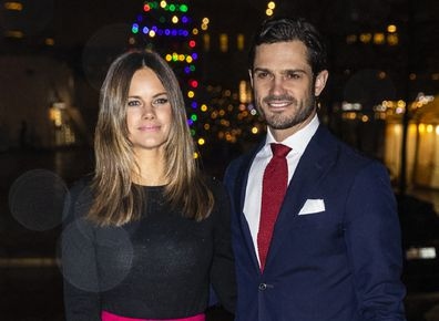 Princess Sofia of Sweden and Prince Carl Philip of Sweden attend the concert Christmas in Vasastan at  Gustaf Vasa Church on December 21, 2019 in Stockholm, Sweden.