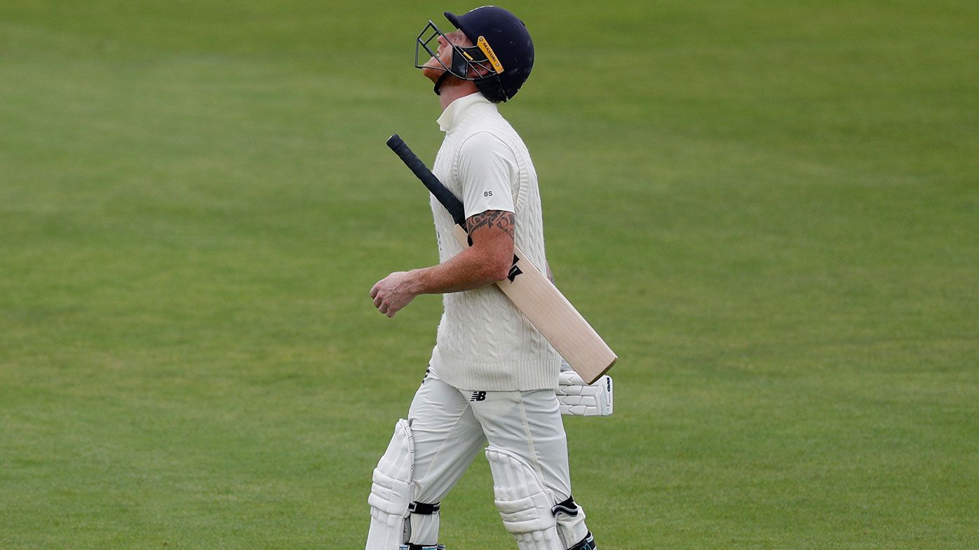 Ben Stokes shows his frustration on a horror day for England.