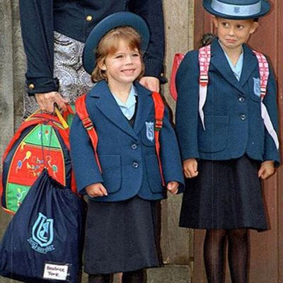 Princess Eugenie goes (throw)back to school