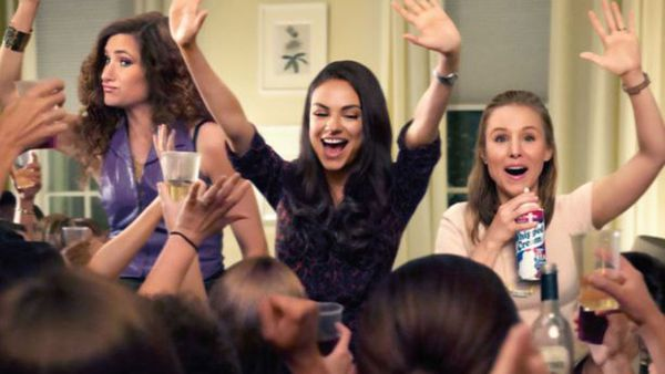 When the kids go to bed ... the mothers in the film Bad Moms partied and hard.