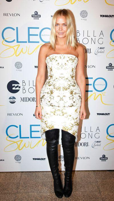 Lara Bingle at the Cleo Annual Swim Party in Sydney, November, 2012