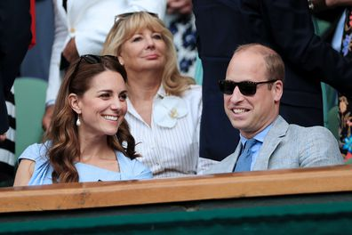 The Duke and Duchess of Cambridge in the Royal Box on Day 13 of Wimbledon 2019.