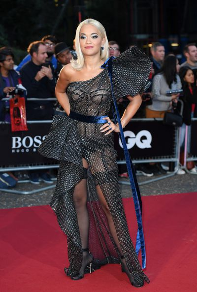 Singer Rita Ora in Ralph & Russo at the 2018 GQ Men of the Year Awards