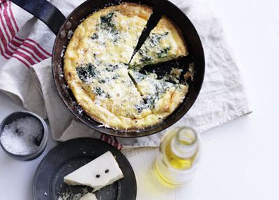 "Recipe:&nbsp;<a href=""http://kitchen.nine.com.au/2016/05/17/11/07/rocket-ricotta-and-pecorino-frittata"" target=""_top"">Rocket, ricotta and pecorino frittata</a>"