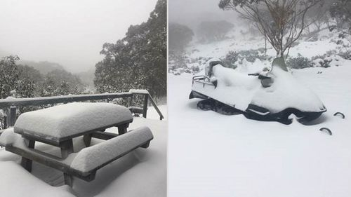 Cold temperatures hit Australia's east coast with snow across the resorts