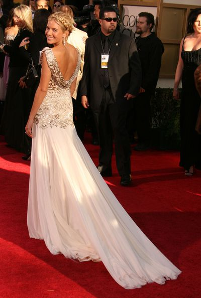 Sienna Miller in Marchesa at the 2007 Golden Globe Awards in Los Angeles