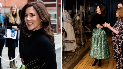 Princess Mary opens an exhibition, April 2019