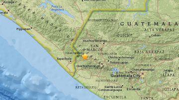 The quake occurred near the Meixco-Guatemala border. (USGS)