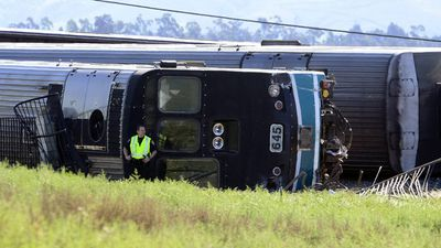 Officials said the engineer immediately hit the brakes but was unable to stop in time. (AAP)
