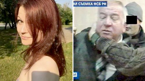 Yulia Skripal (left) and her father, former Russian spy Sergei Skripal. (Supplied)