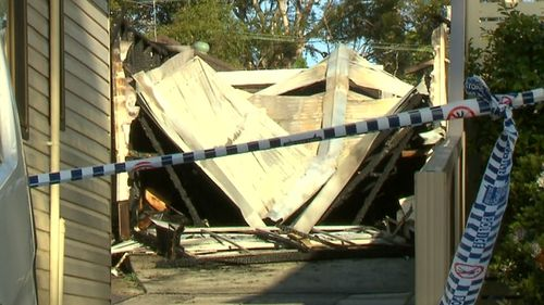 The granny flat was destroyed in the blaze. (9NEWS)