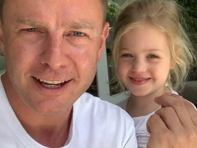 Ben Fordham with his eldest daughter Pearl