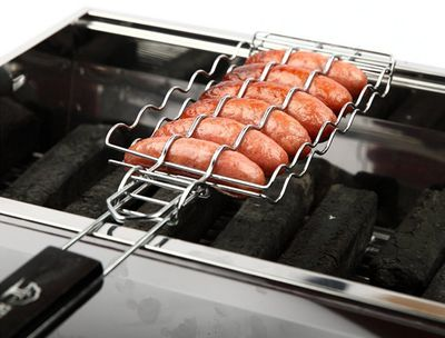 "Metal Mesh Sausage Nonstick Grilling Basket, $28, <a href=""https://www.amazon.com/Baskets-Sausage-Nonstick-Grilling-Barbecue/dp/B01I52Q4NG/ref=sr_1_233?s=home-garden&ie=UTF8&qid=1479357232&sr=1-233&keywords=barbecue+tools"" target=""_blank"">Amazon</a>"