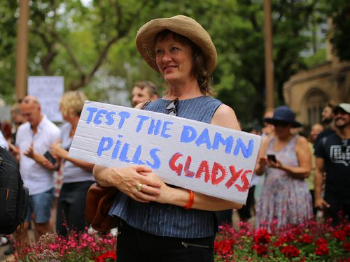 The aim of the march is to put pressure on NSW Premier Gladys Berejiklian to introduce pill testing at music events.