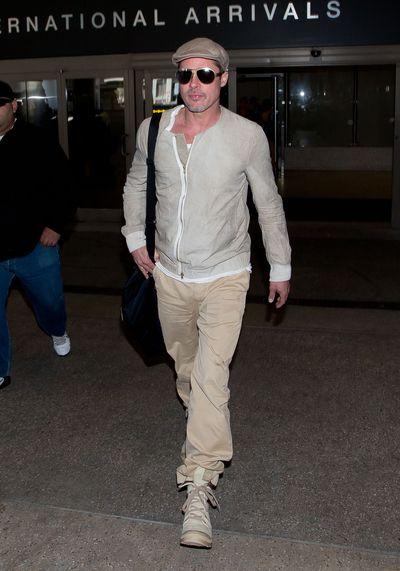 Brad Pitt seen at LAX airport on April 02, 2014