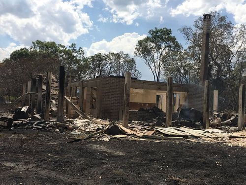 One of the homes destroyed by a fire in Finch Hatton.
