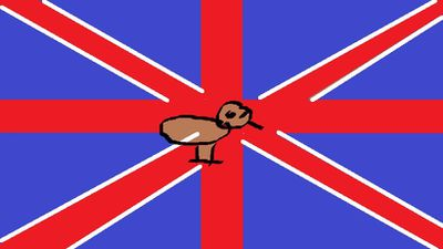 "<p>""The Union Jack with a Kiwi in the centre recognises our British colonial past and recognises the future with us as a separate people.""</p> <p>Pommy Kiwi by Nick Brown from Auckland. (NZ Government)</p>"