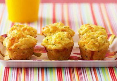 Mini corn and chive muffins