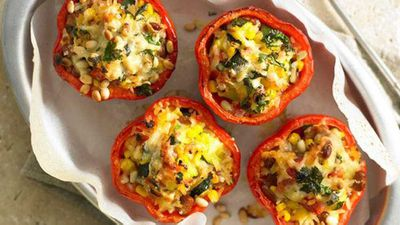 "5.) <a href=""https://kitchen.nine.com.au/2016/05/16/17/43/mexican-ricestuffed-capsicums"" target=""_top"">Mexican rice-stuffed capsicums</a>"