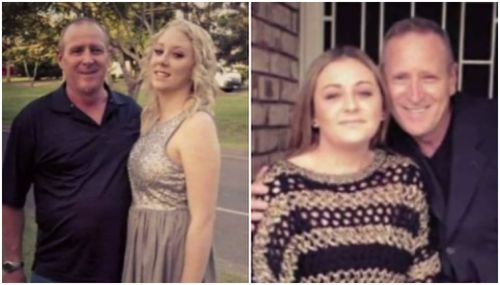 Ian Jones, pictured above with his daughters, was stabbed once in the heart. He died of his injuries.