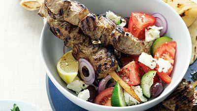 """<a href=""""http://kitchen.nine.com.au/2016/05/17/10/03/marinated-greek-lamb-skewers"""" target=""""_top"""">Marinated greek lamb skewers</a> recipe"""