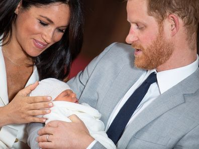 Meghan and Harry with their son Archie