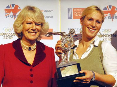 Zara is named Equestrian Athlete of the Year, 2006