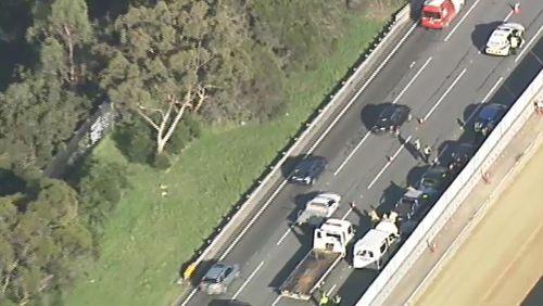 Gridlock traffic on Monash Freeway after major crash