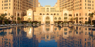 Doha's plush St Regis luxury hotel.