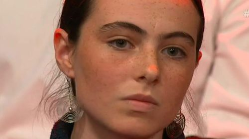 Teenager Eloisa Moses-McMahon on Monday night's show.