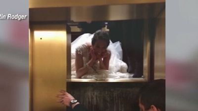Bride's wedding day nightmare after getting trapped in lift