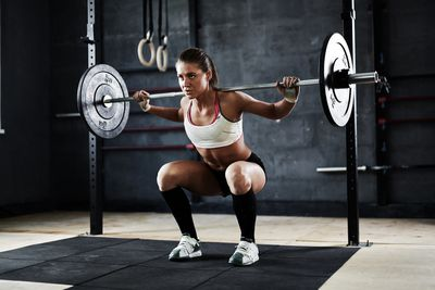 <strong>Answer: Lifting weights</strong>