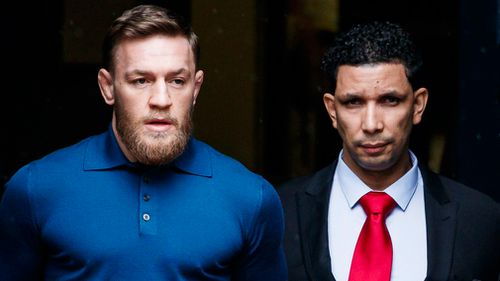 McGregor didn't say anything to waiting cameras as he left. (EPA/AAP)