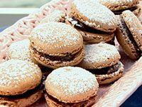 Chocolate pistachio macaroons