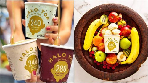 Halo Top has been touted as a 'healthy' ice cream with lower sugar and more protein than the traditional version. (Instagram/halotopau)
