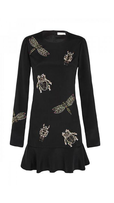 "<a href=""https://www.sassandbide.com/int/products/metallic-messiah-black"" target=""_blank"">Dress, $1800, Sass & Bide</a>"