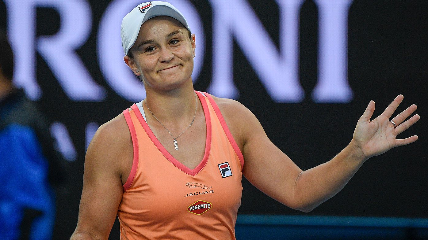 'I missed it a lot': Ash Barty makes triumphant return to court after COVID-enforced absence