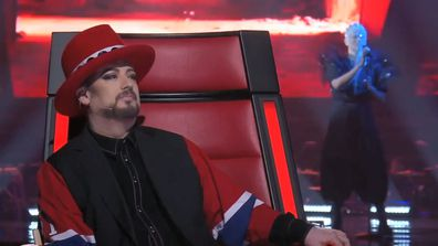 Boy George and Sheldon Riley on The Voice