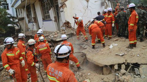 Rescuers searching through rubble as China quake recovery continues