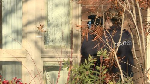 The Ellerston Avenue property was targeted this morning. (9NEWS)